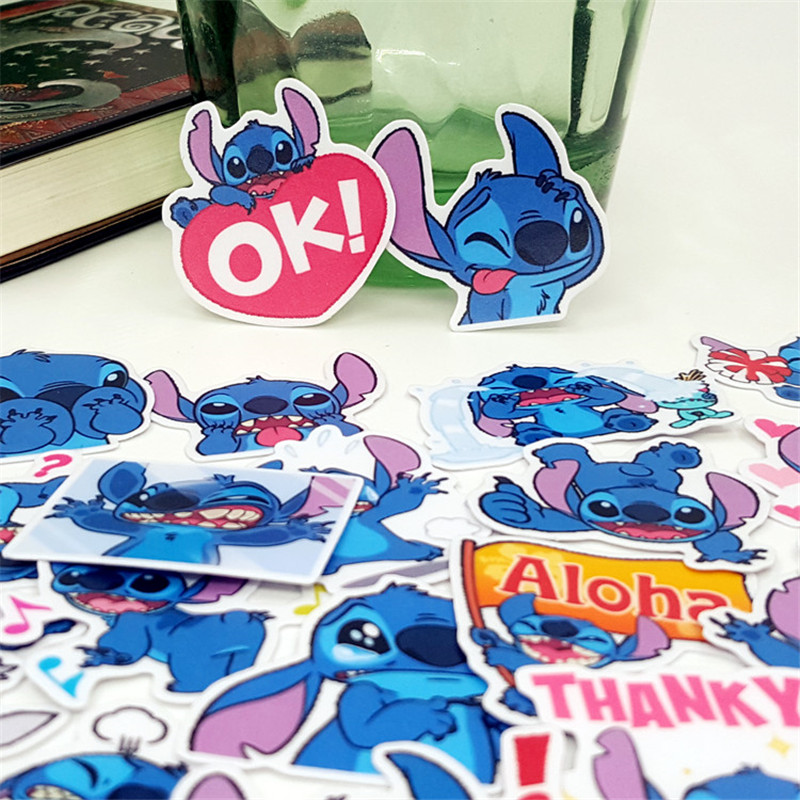 24 Pcs Anime Blue Ugly Mob Decorative Stickers Adhesive Stickers Scrapbooking DIY Decoration Diary Stickers Bookmark Toys