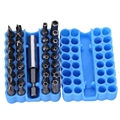 33pcs CRV Hollow Bit Air Screw Driver Extension Rod with Soft Silicone box