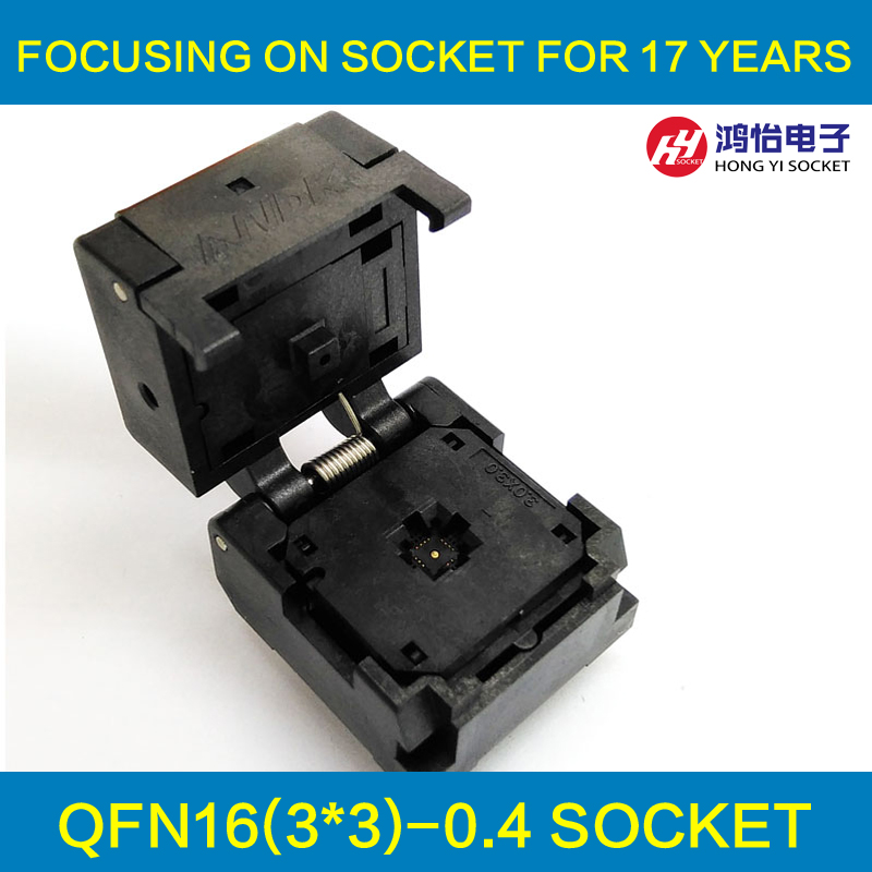 QFN16 MLF16 Burn in Socket IC Test Socket IC550-0164-005-G Pitch 0.4mm Chip Size 3*3 Flash Adapter Clamshell Programming Socket qfn16 to dip16 mlf16 mlp16 plastronics qfn ic programming adapter test burn in socket 3 3 mm 0 5 pitch free shipping