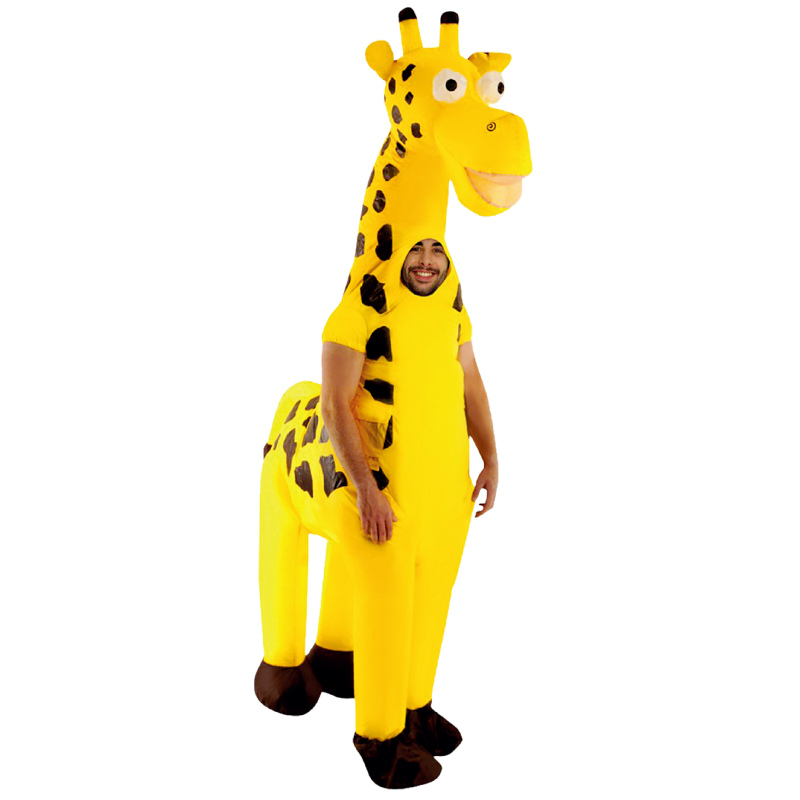 Inflatable Giraffe Costumes For Adult Ride On Cosplay Suits Animal Fancy Dress Halloween Carnival Party Airblown Costume Outfits