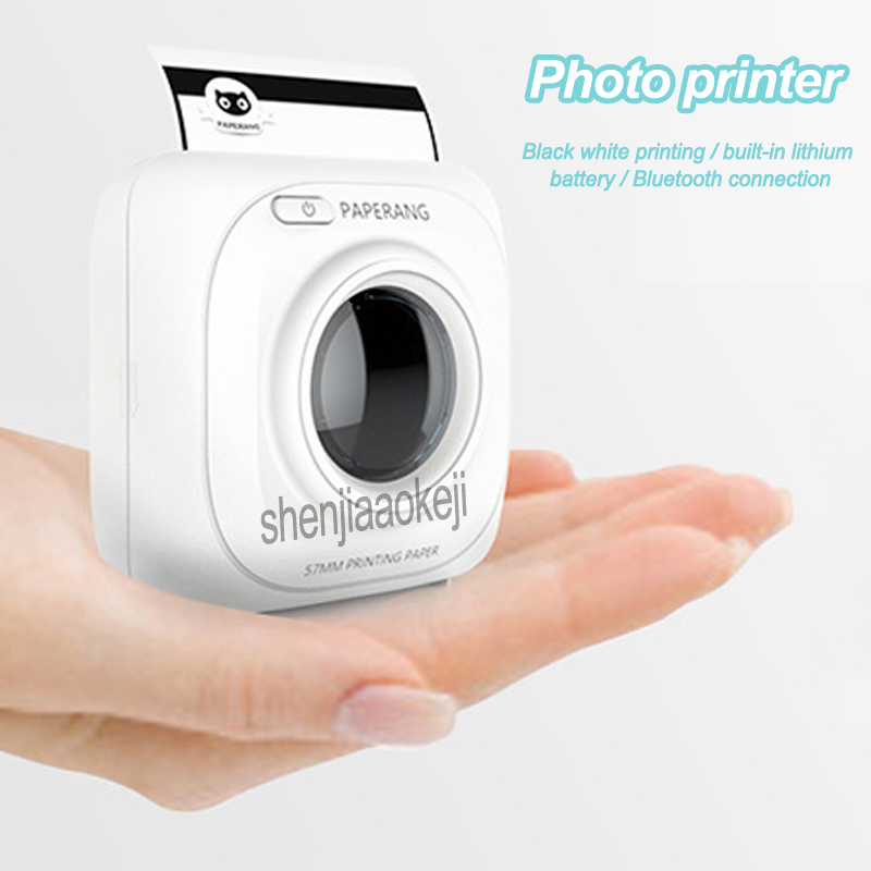 Photo Printer Portable Bluetooth Printer Picture Thermal Printer Phone Wireless Connection Printing machine for Office/Learning image