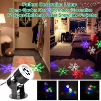 Holiday Indoor Decoration 12 Types projector stage light led club multicolor snow disco laser lamp party light Christmas holiday