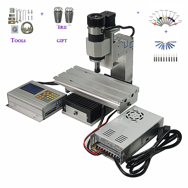 Mini metal cnc milling machine cnc router 1010B upright 3axis column type mini cnc milling router