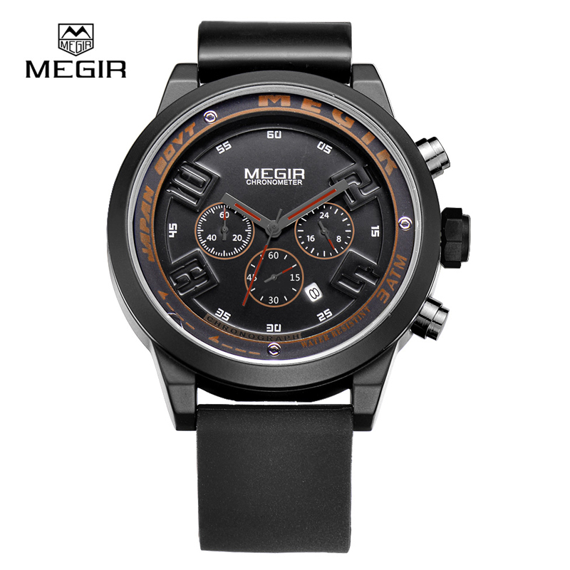 watches men luxury brand megir sport relojes reloj hombre. Black Bedroom Furniture Sets. Home Design Ideas