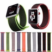38mm 42mm band for apple watch series 1 2 3 woven nylon band strap for iWatch colorful pattern classic buckle(China)