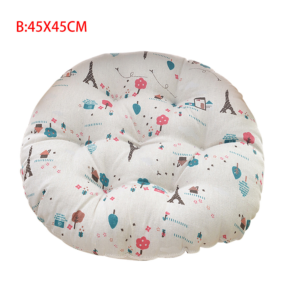 Image 4 - Chair Cushion Round Cotton Upholstery Soft Cushion Padded Office Home Car Seat Cushion decorative cushion chair pads kids-in Cushion from Home & Garden