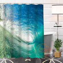 Custom Ocean@2 Fabric Hot Modern Shower Curtain bathroom Waterproof Popular Best Nice 100% Polyester H0223-73