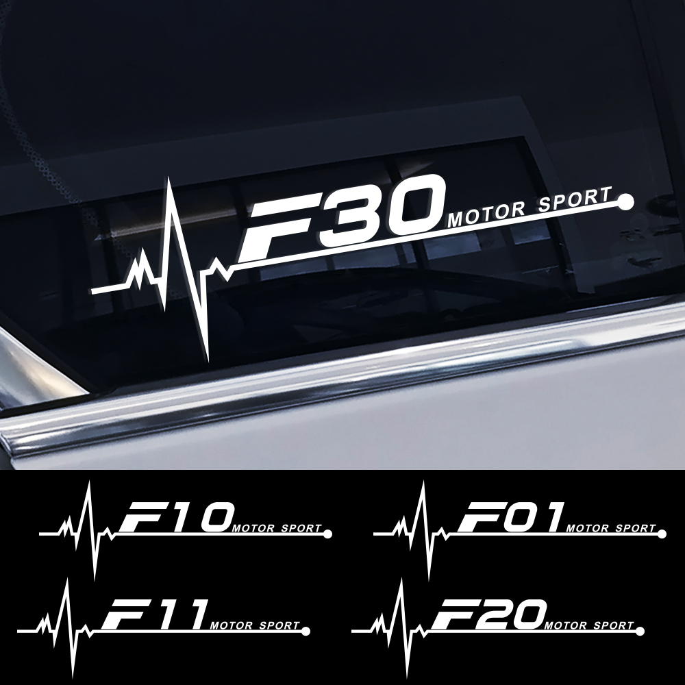 2PCS/Lot Car Side Window Stickers Decals For BMW F30 F20 F10 F31 F11 F34 F01 F12 F18 F32 F33 F34 F35 F45 F46 F82 F85 Accessories image
