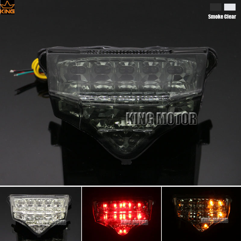 Motorcycler Accessories Integrated LED Tail Light Turn signal Blinker For YAMAHA FZ6 FAZER 2004-2008 Smoke for yamaha fz 09 mt 09 fj 09 mt09 tracer 2014 2016 motorcycle integrated led tail light brake turn signal blinker lamp smoke