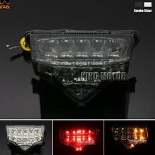 Motorcycler Accessories Integrated LED Tail Light Turn signal Blinker For YAMAHA FZ6 FAZER 2004-2008 Smoke