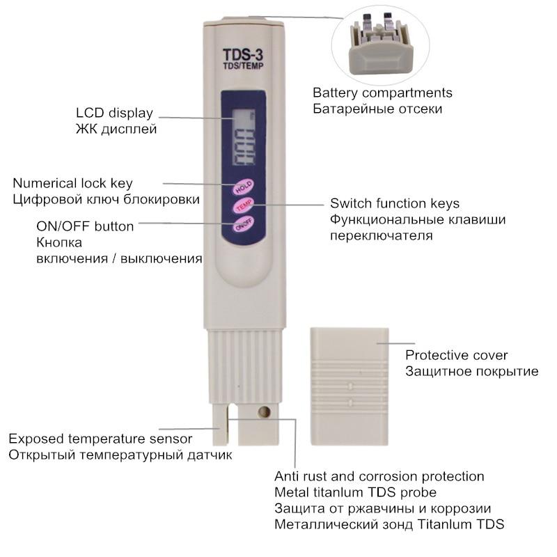 Cyfrowy miernik TDS Tester Pomiar jakości wody Test czystości - Przyrządy pomiarowe - Zdjęcie 3