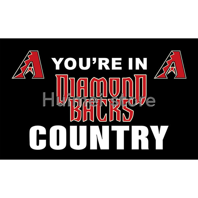 timeless design 43b9e c0366 Arizona Diamondbacks flag Banners Home Decor YOU'RE IN COUNTRY Shop  Decoration-in Flags, Banners & Accessories from Home & Garden on  Aliexpress.com | ...