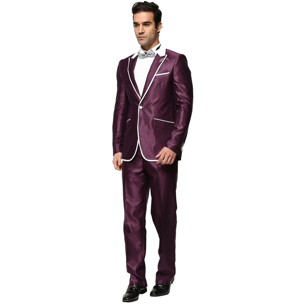 jacket pant business casual men blazer suits spring autumn single jacket pant business casual men blazer suits spring autumn single button spliced white collar suits costume homme a0309 in suits from men s clothing