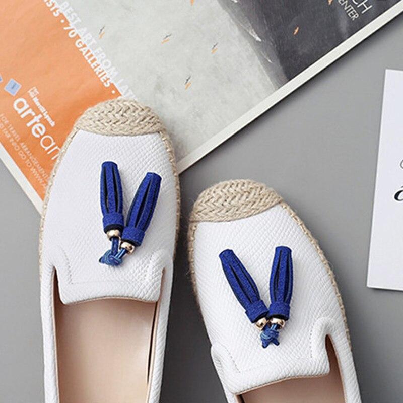 Glissent Yaerni Femmes Size35 Sur Véritable Mode Mocassins 40 Casual White Chaussures En Cuir Blue Filles Respirant Femme Pour De Appartements qpwxBqv