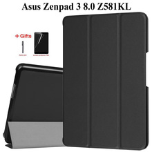 Slim Folding Flip PU Leather Case for Asus Zenpad 3 8.0 Z581