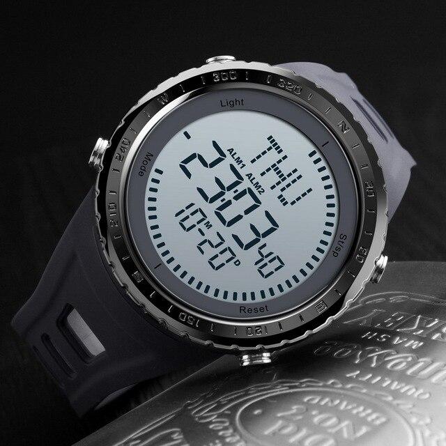 373585b5b3c1 SKMEI hombre relojes brújula Hora Mundial semana fecha cronómetro  cronógrafo LED Digital Reloj hombre relojes deportivos