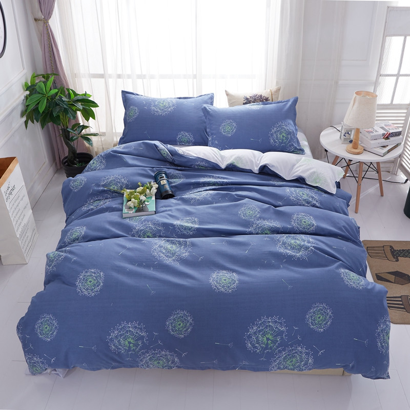 Bedding 2018 Dandelion Blue Bedding Set 3/4pc Twin Queen King Size High Quality Duvet Cover Flat Sheet Pillowcases Bedlinens Bedclothes At Any Cost