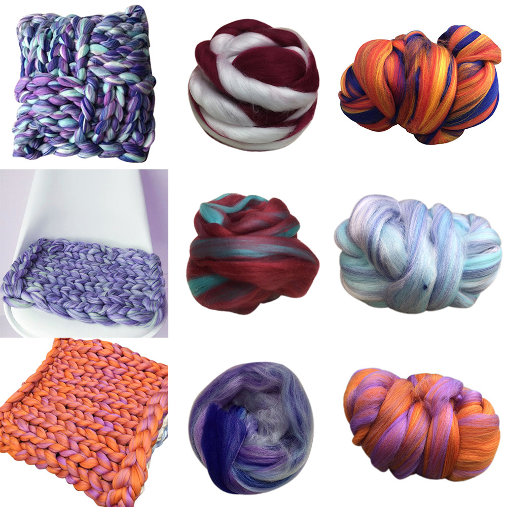2018 New Arrival Wool Yarn Super Soft Bulky Arm Knitting Wool Roving Crocheting DIY Apparel Sewing For Sweaters Hats Scarves