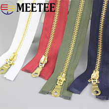 2pcs Meetee 5# Metal Zipper 70cm 80cm Open End Zip DIY Clothing Accessories Tailor Sewing Tools Jacket Overcoat Garment