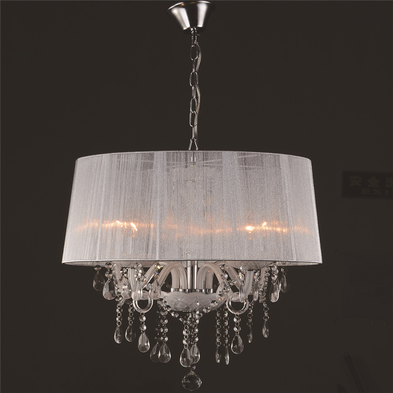 Modern restaurant K9 crystal lamp pendant lamp light in the bedroom minimalist personality cloth cover crystal lamp WPL281 sushil khetan k endocrine disruptors in the environment