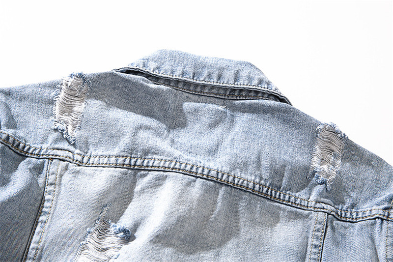 Veste Vestes Trous Bleu Déchiré Mens Avec Lavé Difficulté Survêtement Oversize Rue Pu Clair Jeans Mode Moruancle En Denim Ciel Salut q7Y11F