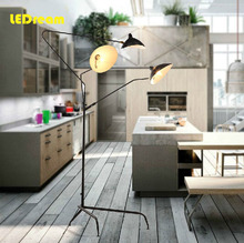 Nordic contracted style duckbill lamp, wrought iron creative personality individual three vertical floor lamp