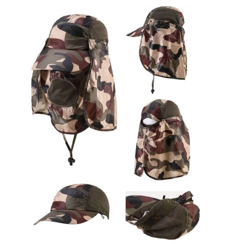 UV Protection Face Neck Cover Fishing Sun Protcet Cap For Outdoor Sport Hiking Camping Visor
