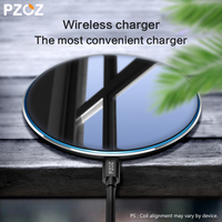 PZOZ Qi Wireless Charger USB Charge Fast Charging Phone Adapter For Iphone X 10 8 Plus