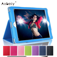 For New Ipad Litchi Pattern Magnetic Sleep Wake UP Flip Leather Smart Stand Case For Apple
