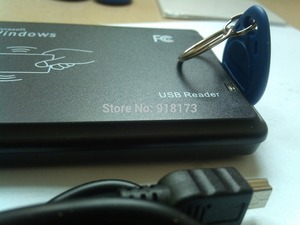 13.56MHz Black USB Proximity Sensor Smart rfid NFC Card Reader no need driver