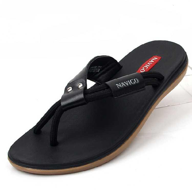6ca1d8099 Flip Flops Men Slides Rubber Flats Outside Summer 2017 Casual Beach Vietnam Sandals  Leisure Marca Mules
