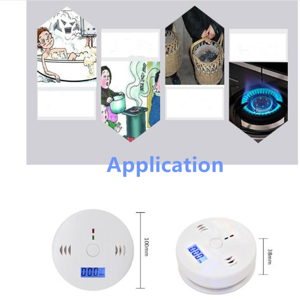 Home Safety CO Carbon Monoxide Smoke Poisoning Gas Sensor High Sensitivity Warning Alarm Detector Kitchen