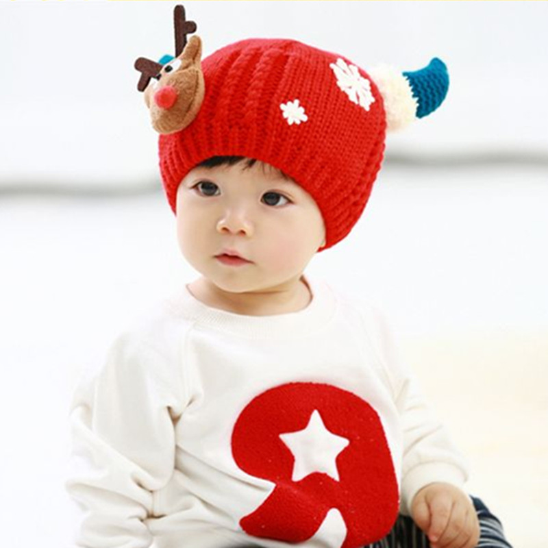 Baby Hat Handmade Wool Ear Knitting Hats Autumn Winter Hat Warm Caps Boys  Girls Hats Bonnet Suede Kids New Year Christmas Gift-in Hats   Caps from  Mother ... 4118d44dd221