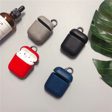 PU leather Earphone Case For Apple AirPods case protective cover Bluetooth Wireless Charging Box bags