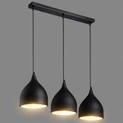LukLoy nowoczesny wisiorek lampy sufitowe stół Lustre wisiorek światła Loft lampa Hanglamp Nordic wiszące oświetlenie kuchni oprawa w Wiszące lampki od Lampy i oświetlenie na
