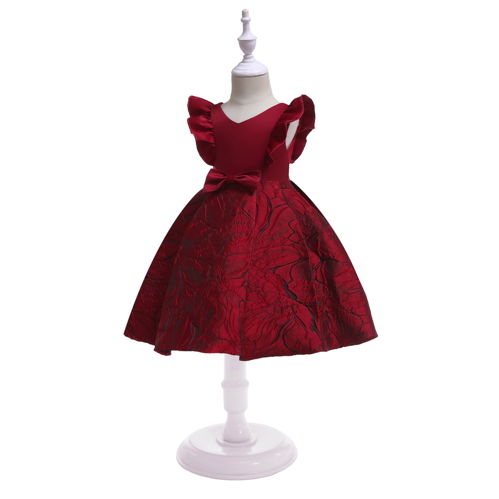 Floral Girl Dresses 2019 Summer Princess Costumes Wedding Child Clothing Ruffles Kids Dress For Girls Formal Prom Gowns 10 Years (2)
