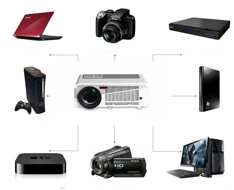 Идеальный светодиодный проектор, встроенный в andorid 4,42 Full HD 5500 люмен с HMDI USB TV проектор для домашнего кинотеатра - 6