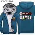 2017 Winter Fashion Funny Cartoon Man Jacket Devil Nut Print Men Thicken Hoodies Long Sleeve Casual Clothes Casual Warm Coat