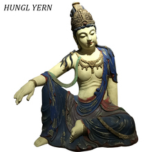 58cm anciant Guanyin Buddha statue Raw lacquer Statues for decoration Handcraft