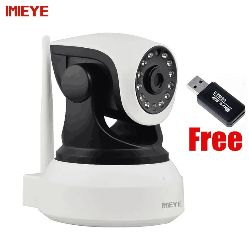 IMIEYE HD 720P IP Camera Wireless Wifi CCTV Night Vision P2P Webcam TF card PTZ Onvif IP Kamepa Wi-fi Security Surveillance Cam