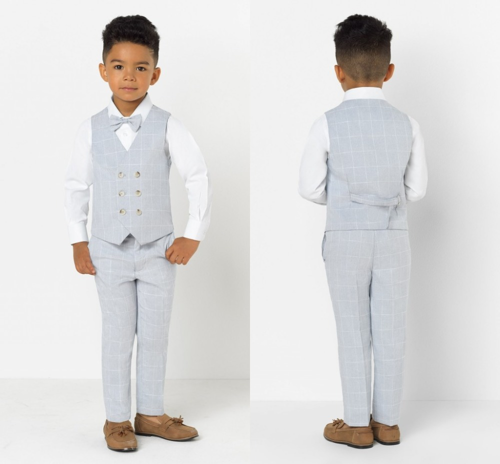 2019 New Arrival Boys' Attire Peaked Lapel Kids Suits Custom Made Clothing Set 2 Pieces Prom Suits (Pants+Tie+Vest) 015