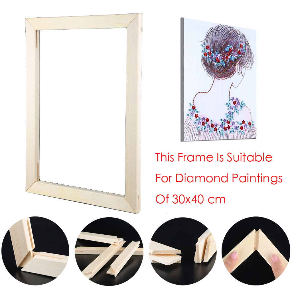 Diamond Painting Frame Diamond Embroidery Tools Accessory Mosaic Wood Frame for Oil Painting Inner Frame Print Canvas Painting