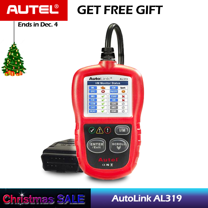 Autel AutoLink AL319 Auto Diagnostic Tool DIY Code Reader OBD2 Code Scan Tool View Freeze Frame Data Diagnostic-tool Car Scanner
