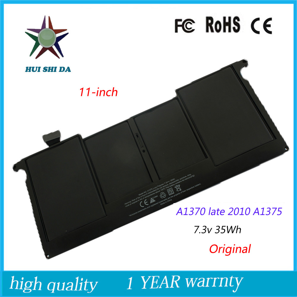 7.3v 35Wh New  Original A1375  Laptop Battery for APPLE macbook Air   A1370  late-2010 11Inch