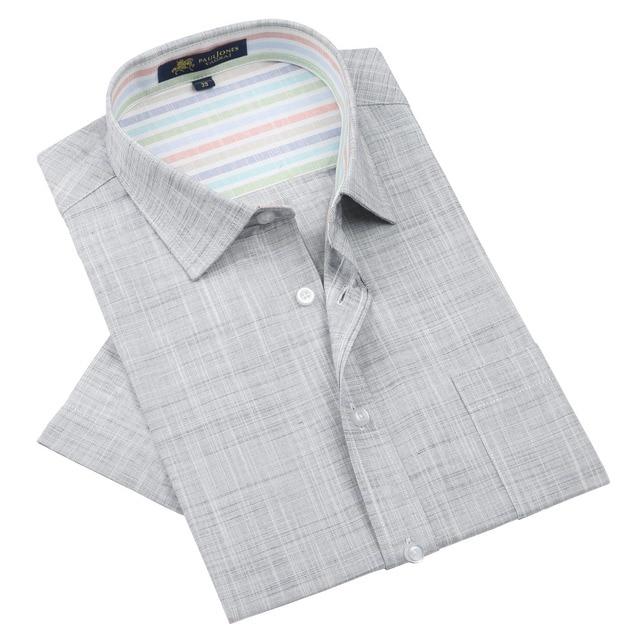 acheter en ligne 2aded 0bb8b Marque haute qualité lin hommes chemises à manches courtes homme  décontracté affaires robe chemise pour camisa masculina