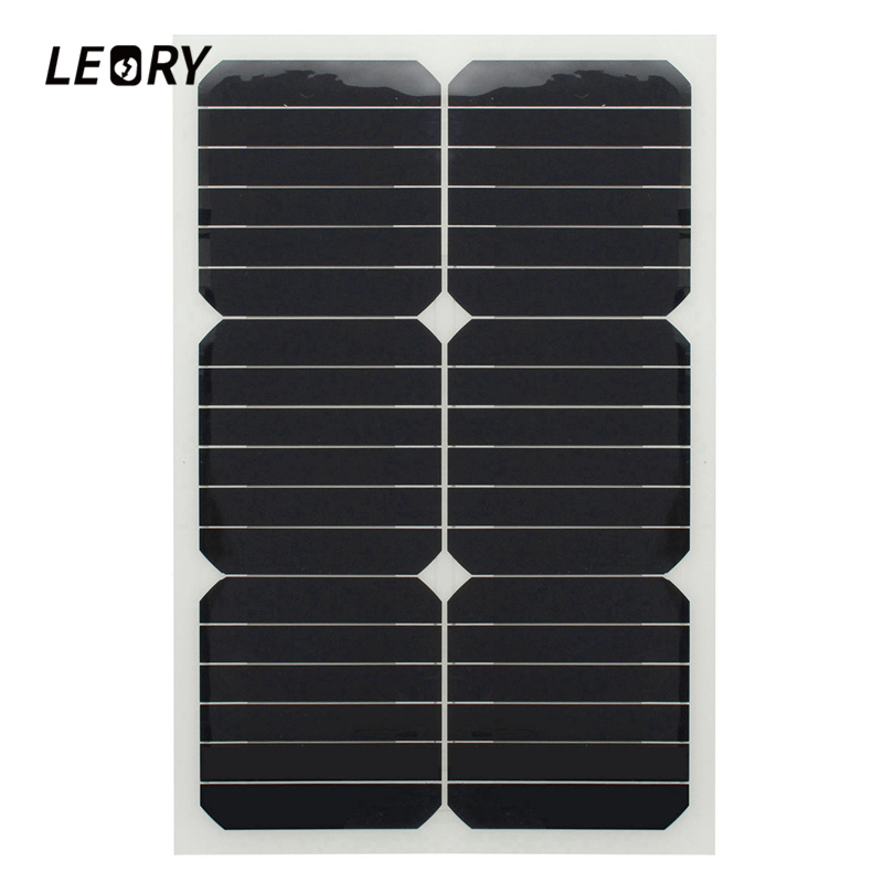 LEORY 20W 12V Monocrystalline Solar Panel Semi Flexible Sun Power For RV Car Boat Battery Charger Solar Cells Module+Chip