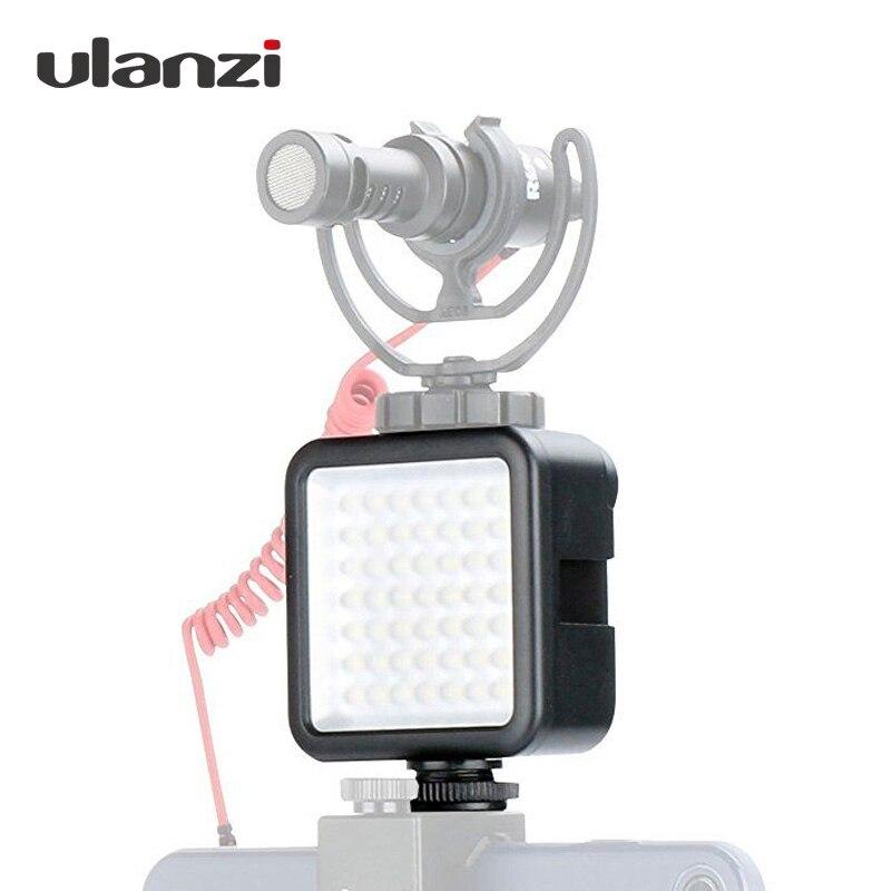 Ulanzi 49 Regulável LED Camera LED Luz de Vídeo DSLR Na Câmera de Vídeo Ultra Brilhante para Canon Nikon Pentax Sony Osmo móvel 2 Suave