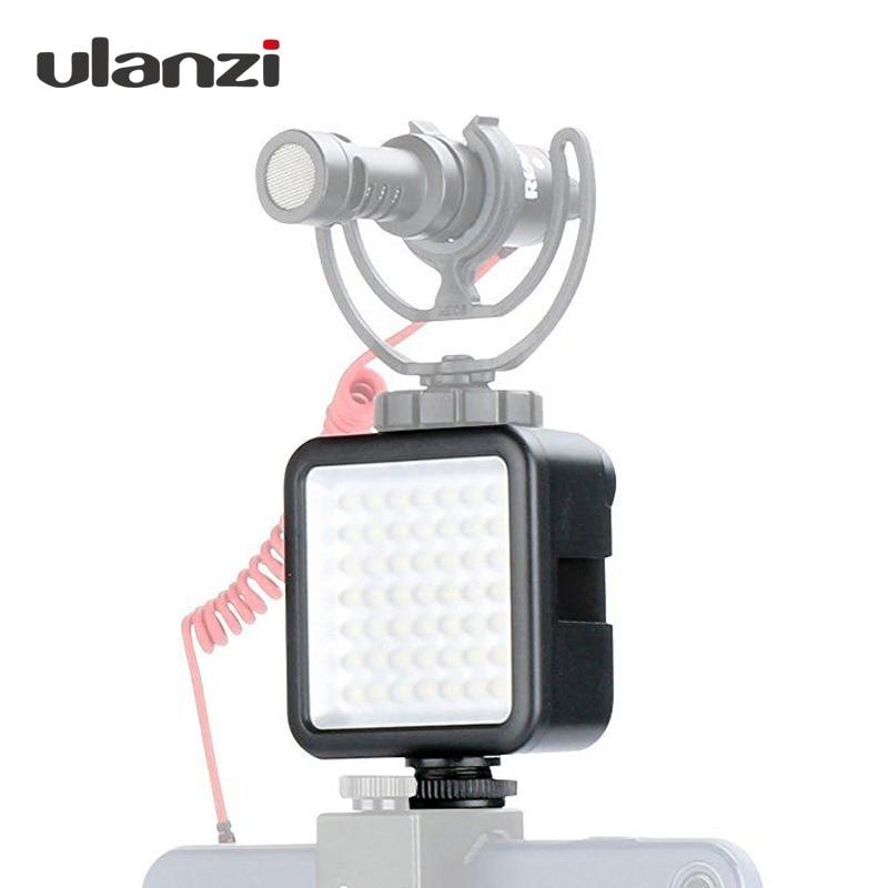 Ulanzi regulable 49 Cámara LED Luz de vídeo LED DSLR en cámara de vídeo Ultra brillante para Canon, Nikon, Pentax, Sony Osmo móvil 2 suave