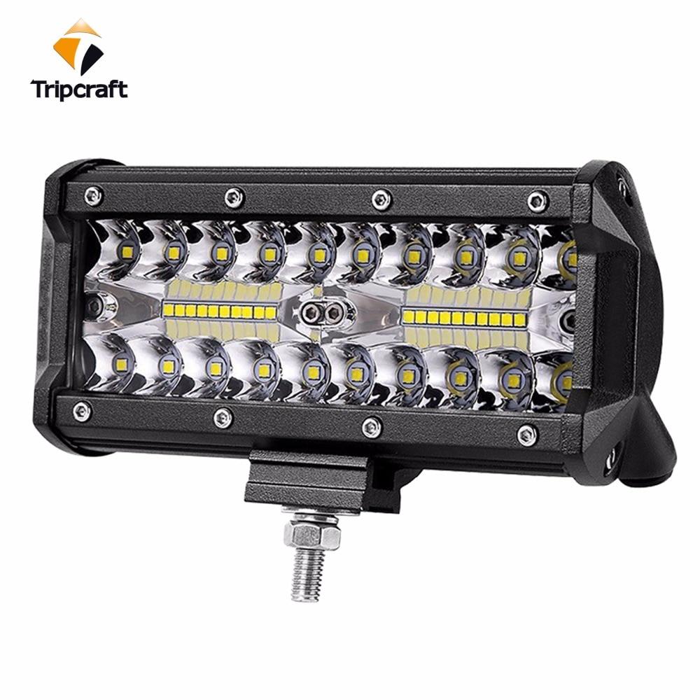 7 pulgadas 120 w LED Barra de luz de trabajo combo de coche luces de conducción para camión fuera de carretera 4WD 4x4 UAZ rampa de moto 12 V 24 V auto lámpara de la niebla