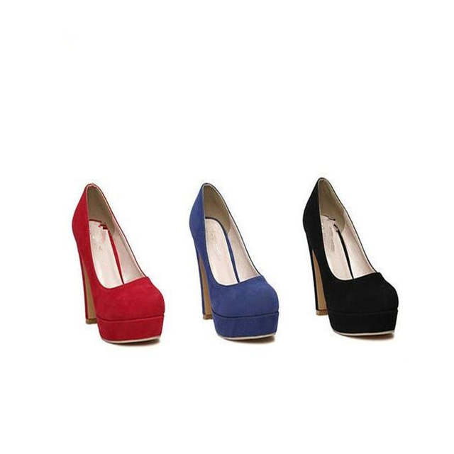 placeholder Free shipping 2017 woman Pumps autumn thick heel shoes ol high-heeled  shoes female the 5175d7912cff